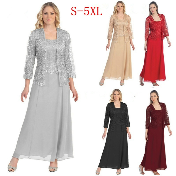 longdresswithjacket, Plus Size, Lace, chiffon