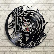 Home & Kitchen, Clock, blackrecordwallclock, Jazz