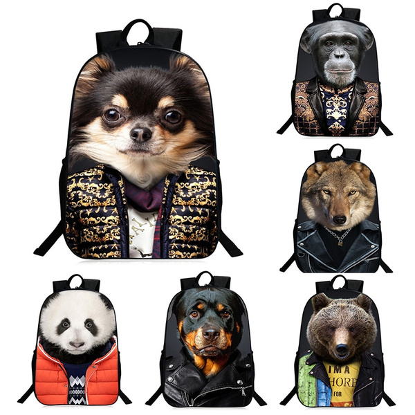 0d6a3cfaad Preppy Owl Pattern and Stitching Design Satchel 3D Animal Pattern Backpacks  Bags Zipper Backpack