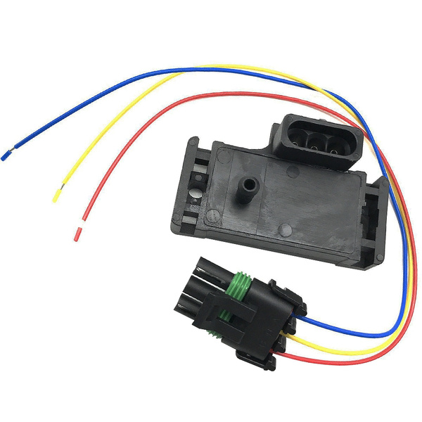 12223861 16040749 GM Style Temperature Compensation 3-pins Map Sensor for  Electromotive Motec Megasquirt With Plug for Cars