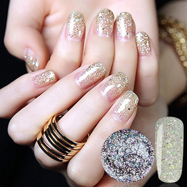 Wish Ibcccndc Uv Shining Glitter Gel Nail Polish Shimmer Star Soak Off Varnish Art Lak Diy Decoration