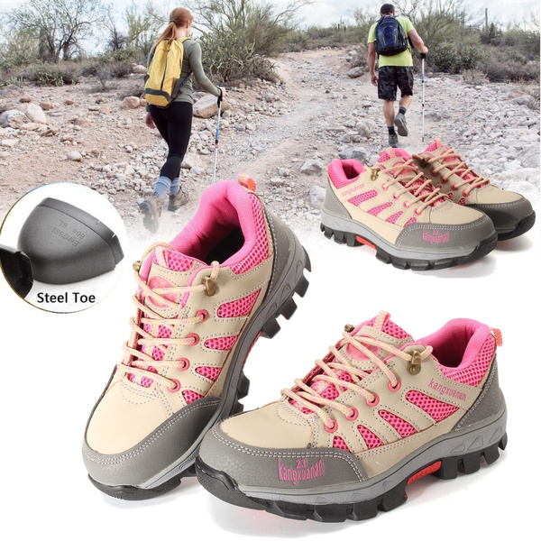 1d6ae288b8a Fashion Women's Construction Breathable Working Safety Shoes Steel Toe Sole  Work Boots