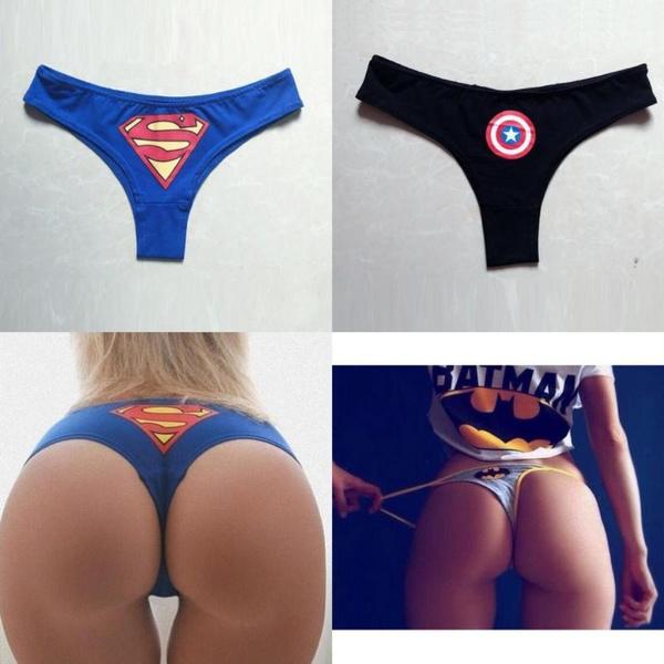 e160f0bb402 HOT Women Sexy Panties BATMAN Superhero Lingerie Underwear Briefs ...