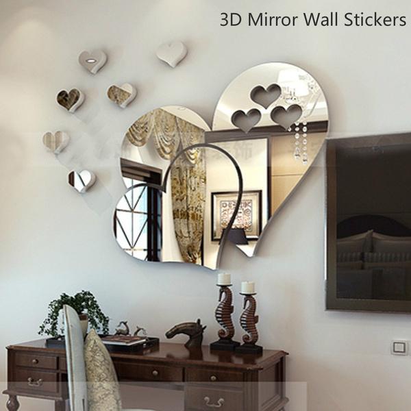 Sticker autocollant autocollant autocollant Home Decorative Art Miroir mural