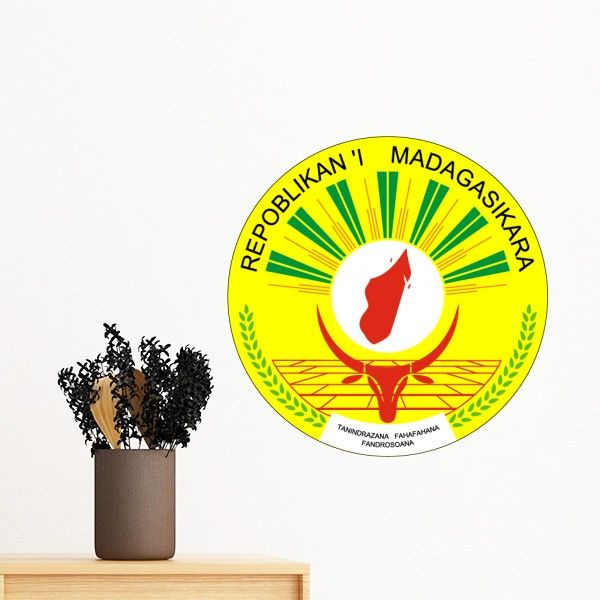 Madagascar Africa National Emblem Removable Wall Sticker Art Decals Mural Diy Wallpaper For Room Decal