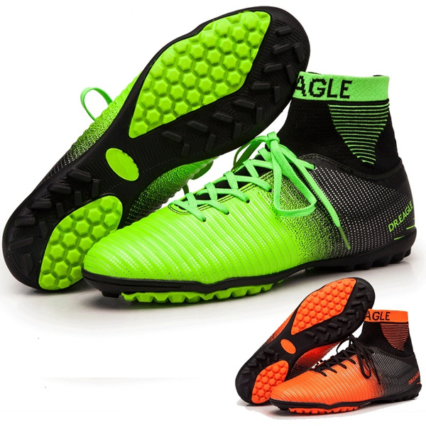 c383a23d8 Men Soccer Shoes Indoor Futsal Shoes with Socks Professional Trainer ...