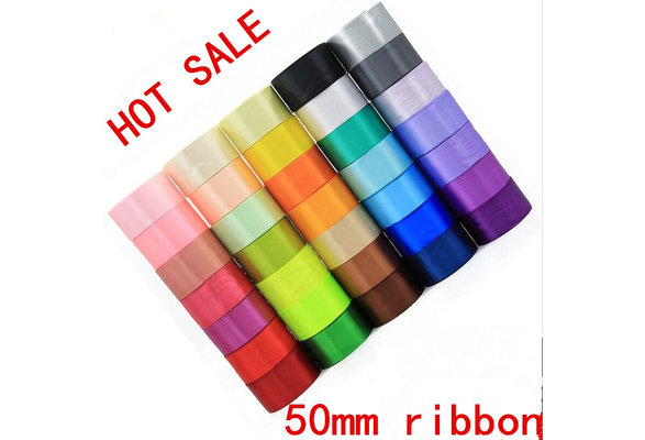 20Colors 5 Yards 50mm 2inches Satin Ribbon Multi-Purposes Wedding Sewing Craft