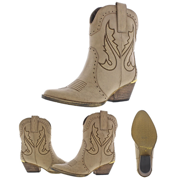 9be6ad570b3 Very Volatile Markie Women's Western Cowboy Boots Cowgirl Style