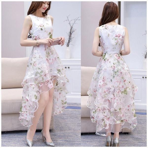 Sleeveless dress, Flowers, Lace, prompartybeachdre