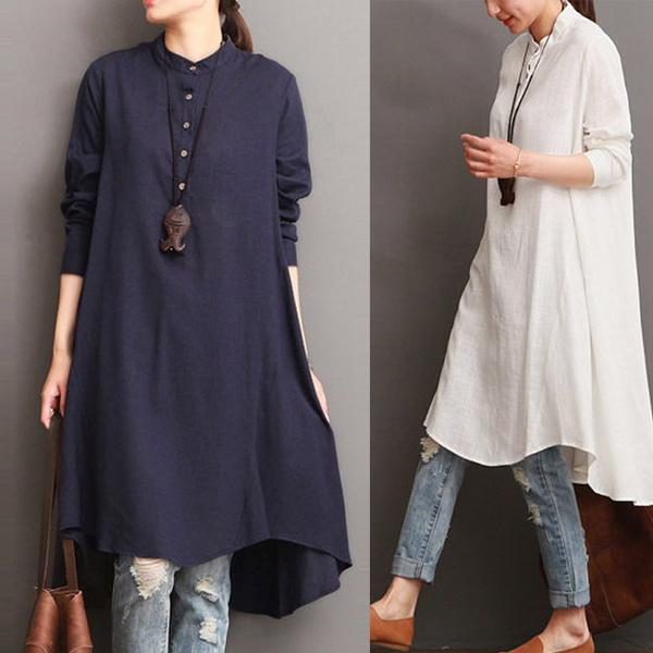 Plus Size, dressesforwomen, Shirt, Sleeve