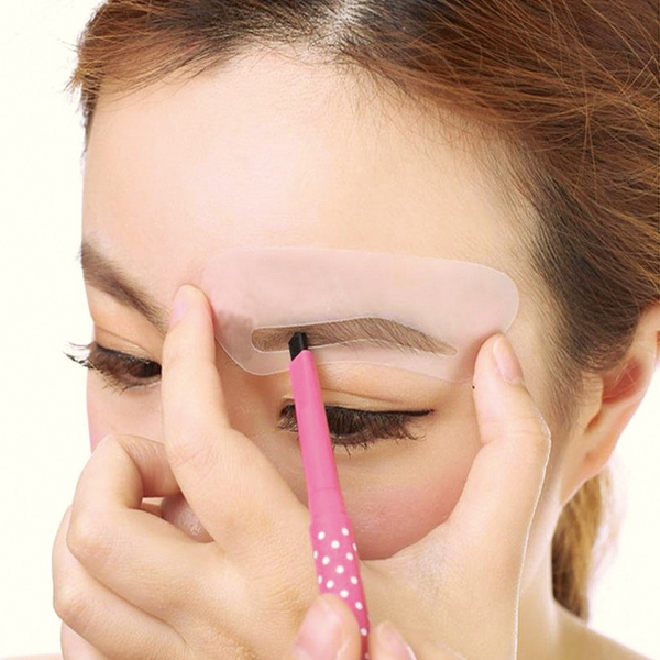 Wish 24pcsset Pro Reusable Eyebrow Stencil Set Eye Brow Diy