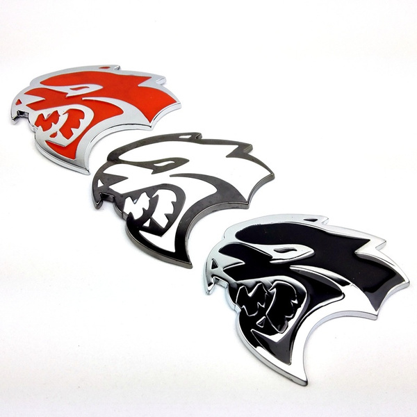 Wish Srt Hellcat Logo Car Front Grille Badge Sticker Emblem Decal