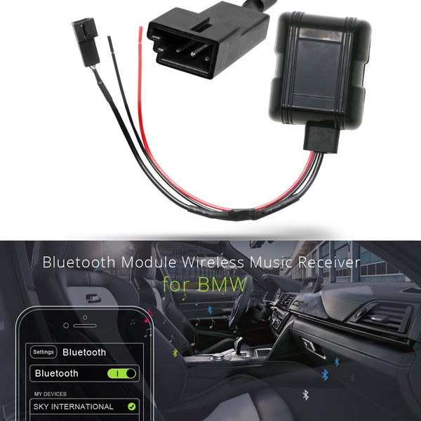 Car Bluetooth Module Aux In Adapter 3 Pin Cable For Bmw Bm54 E39 E46