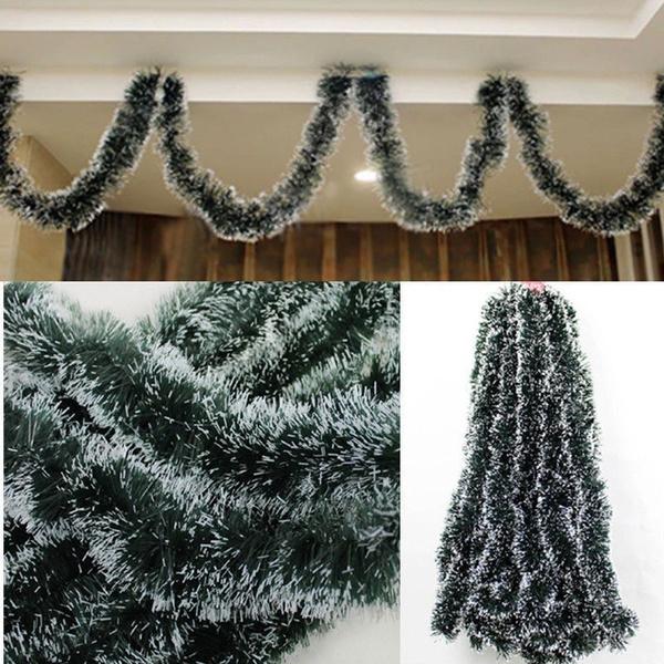 Xmas Tree Hanging Ornament Decoration Party Pine Garland Christmas Ribbon String