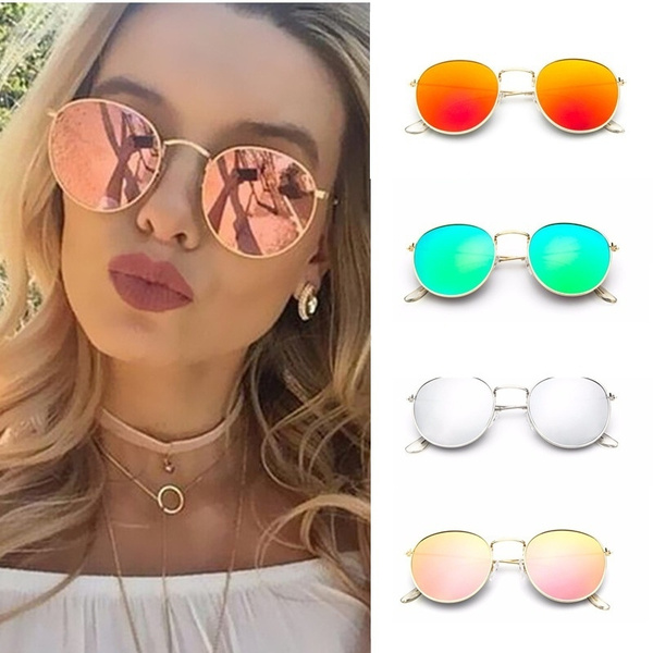Colorful Luxury Women Style Round Metal Fashion Sunglasses srdQht
