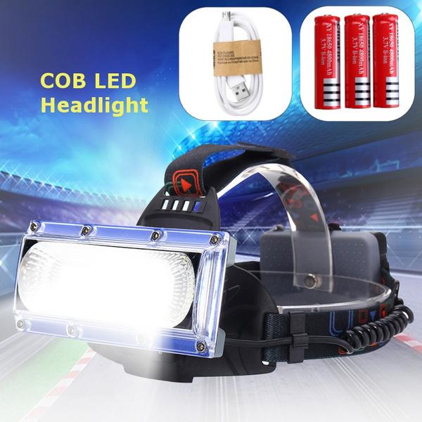 Newest 3000lm 30W COB LED 18650 Outdoor Headlamp Headlight Head Torch USB Light