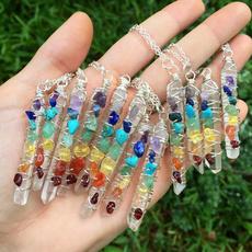 chakranecklace, amethystnecklace, Turquoise, quartz