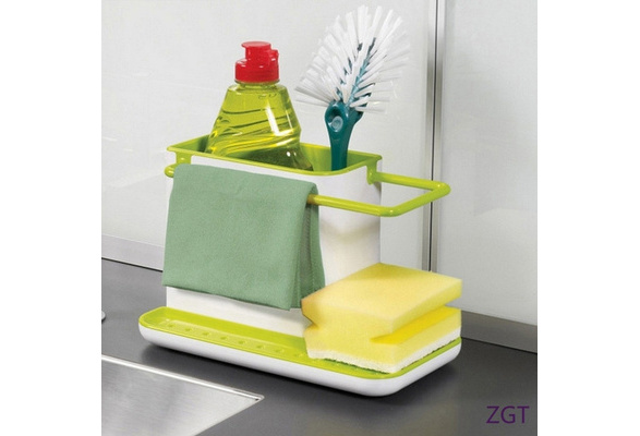 Lightgolden Plastic Racks Organizer Caddy Storage Kitchen Sink Utensils Holders Drainer New