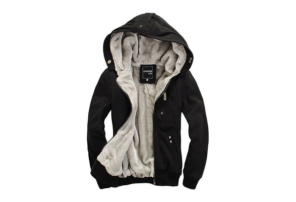 Winter Coat  of Men's Coat Fashion Hoodie Hoodie Hoodie and Thickened Warm Clothes