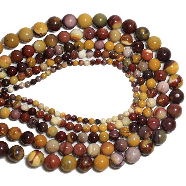 40PCS Natural Gemstone   Garnet   Beads DIY 4//6//8//10mm