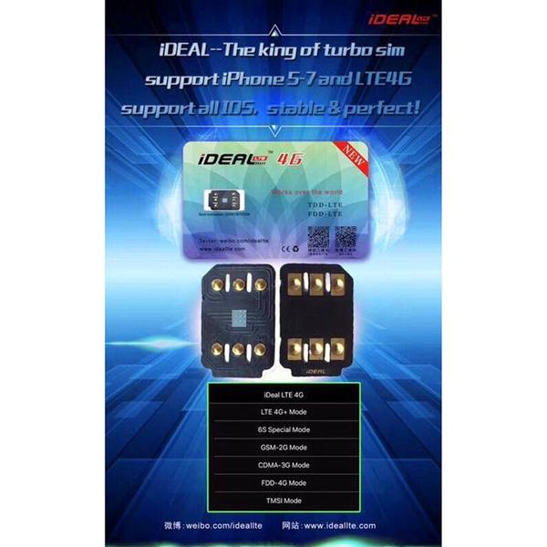 Ideal Unlock Turbo Sim Card Gpp For Iphone 7 Plus For6s6 Plus 5 5s