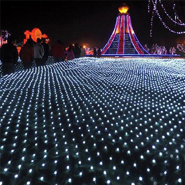 Wish 220v Eu Plug Net Christmas Lights Fishing Outdoor Waterproof And Decorative Led Wedding Ceremony String