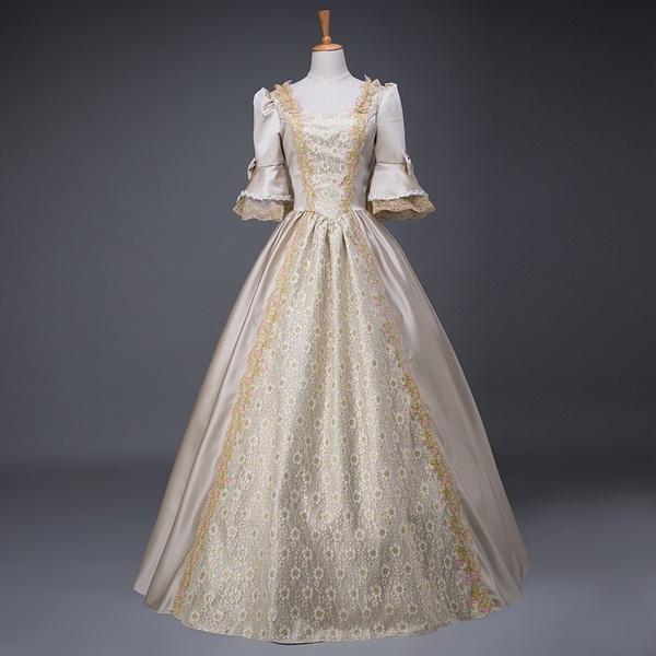Wish | 18th Century Georgian European Court Maxi Long Baroque Dress ...