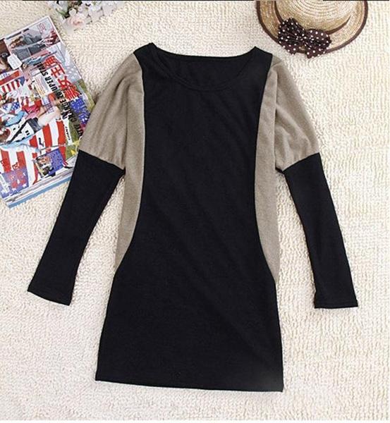 Nuevos Vestidos 2016 Tipo Suéter En Tamaños Grandes Vestidos Tipo Suéter Tejidos Por Computadora Con Mangas Largas Murciélago Suéteres De Invierno