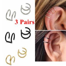 piercedearring, Steel, Fashion, Jewelry