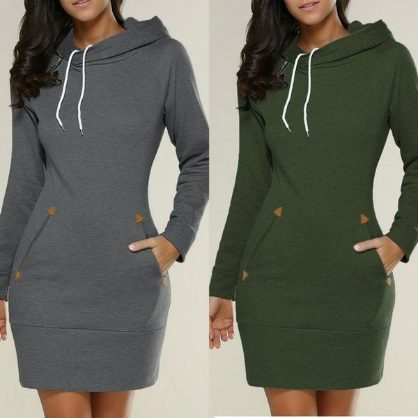 Mini, Plus Size, sweater dress, pullover hoodie