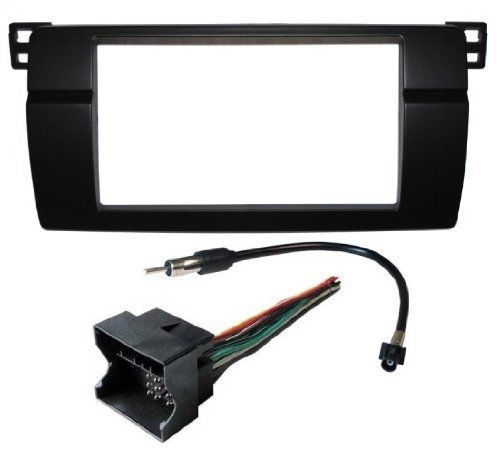 bmw 3 e46 double din aftermarket radio install kit wire harness adapter complete  bmw e46 aftermarket radio wiring harness #7