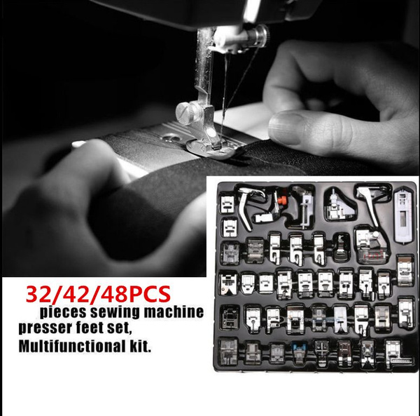 48PCS Domestic Sewing Machine Foot Presser Feet Set For Brother Singer Janome