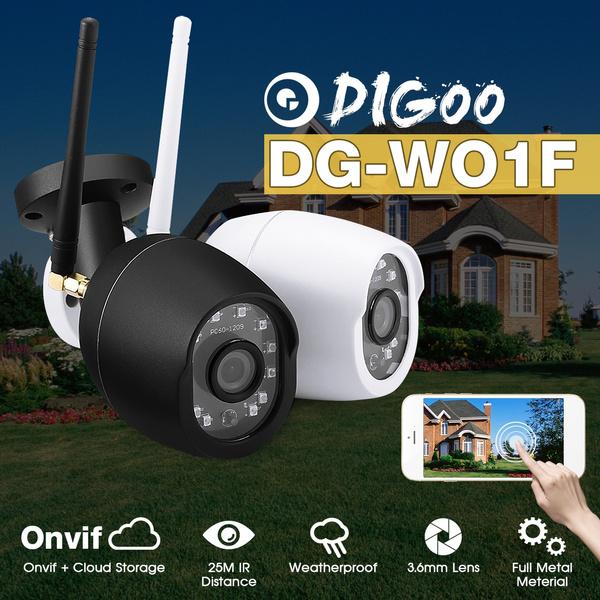 Digoo DG-W01f Waterproof 720P HD Outdoor WIFI Onvif Home Security  Surveillance CCTV IP Camera Monitor 25m IR Distance Motion Detection Cloud  Storage