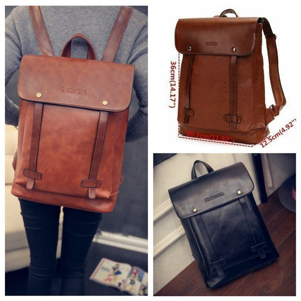 404315ba62 British Style Girl Laptop Rucksack Teenager School Bag Women PU ...
