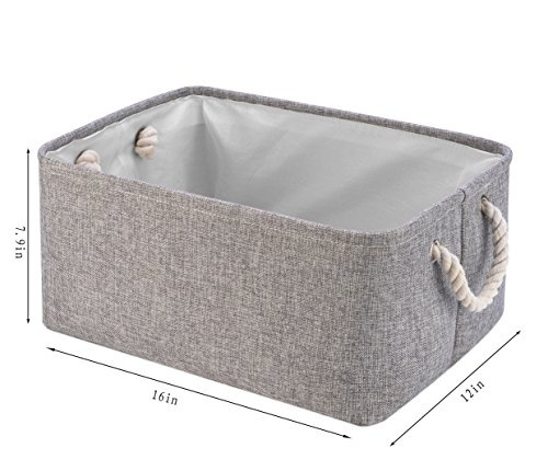 Wish | Perber Storage Baskets Decorative Collapsible Rectangular Linen Fabric Storage Bin large enough for Storage Box Kids Toys Pet Toys Baby Clothing ...  sc 1 st  Wish & Wish | Perber Storage Baskets Decorative Collapsible Rectangular ...