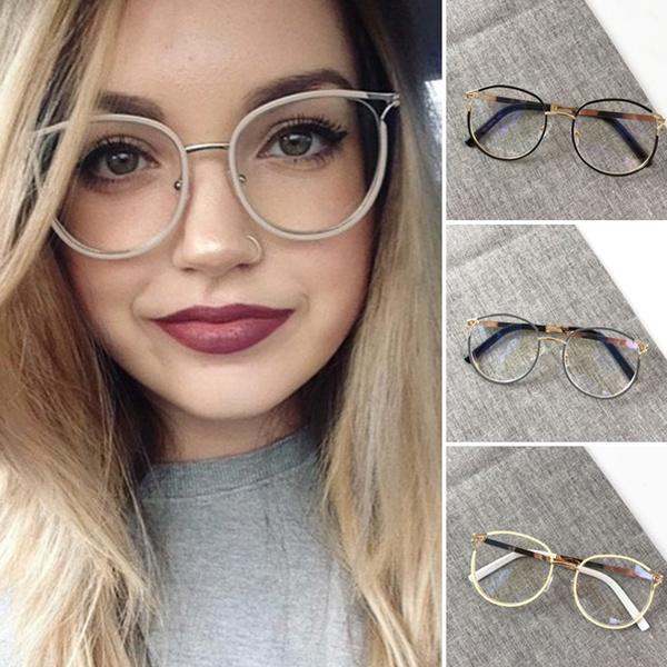 ad49b004cc6a8 2018 Sexy Women Round Style Glasses Fashion Metal Eyeglasses Frame ...