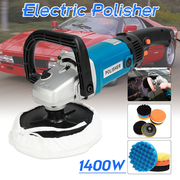 Electric Polisher Kit 1400W Polishing Machine Kit 6 Variable Speed Electric Car Polisher Sander Buffer Polishing for Buffing Car//Wood//Metal//Furniture