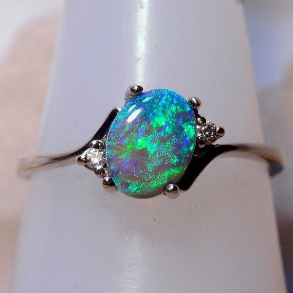 Solid 925 Sterling Silver Ring Natural Fire Opal Jewelry Size 5