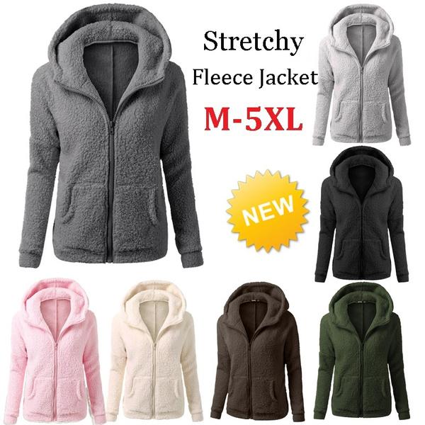 Fleece, cardigan, hooded, Winter