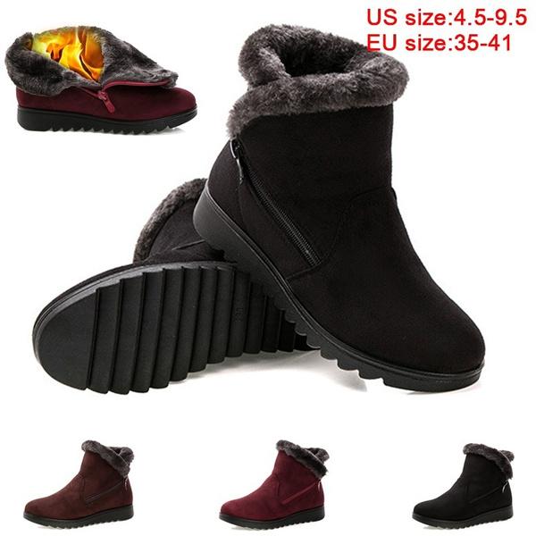 New Women Winter Boots Women\u0027s Boots Mother Shoes Waterproof Ankle Boots  Women Rain Warm Fur Footwear