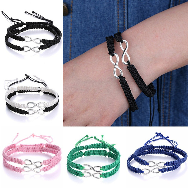 ea91633373 2Pcs Handmade Bracelet Sets Friendship Bff Best Friend Infinity Love ...