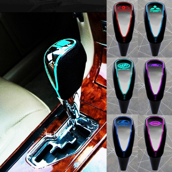 Universal Car Gear Shift Knob Red LED Touch Activated SensorUSB Charge Cable Kit