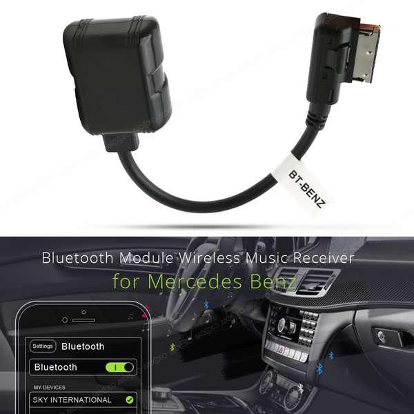 Car Wireless Bluetooth Music Adapter MMI AUX Interface Cable For Mercedes-Benz