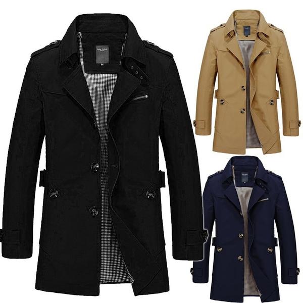 Großhandel Herrenmode Langarm Windbreaker Jacke Wintermantel Herren Kleidung Plus Größe M 5XL Herbst Und Winter Von Remaining, $40.61 Auf