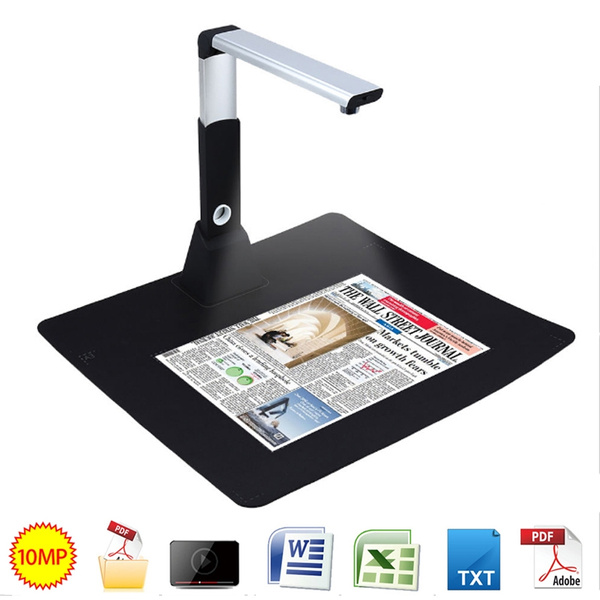 Brand New H1000 HD Portable High-Speed 10MP 3672*2856 A3 A4 A5 Paper  Document PDF Photo Book ID Card Video Camera Document Scanner Visualizer OCR