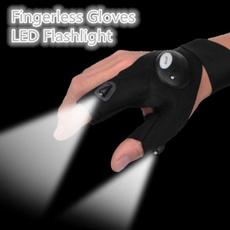 fingerlessglove, Flashlight, Outdoor, fingerlightglove