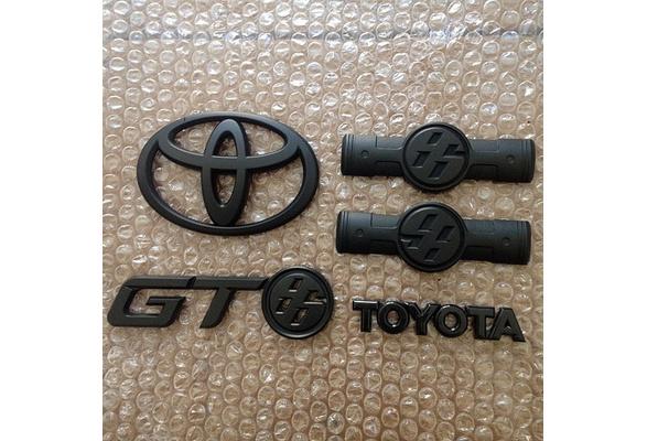 2PCS Matt Black Front and Rear Badge Emblem for GT86 FRS NEW