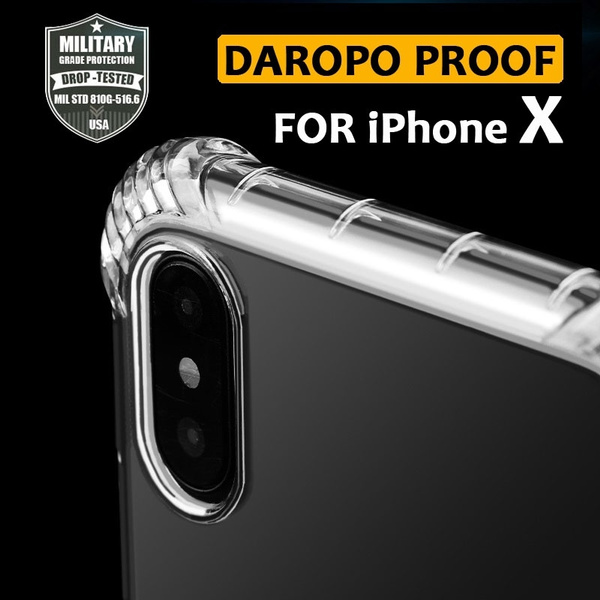 Men's New Arrival Thread Airbag Design 360° All-Protector Transparent Soft  Case for iPhone X Coque iPhone X Skal Cover Best iPhone X Case Cover Shell