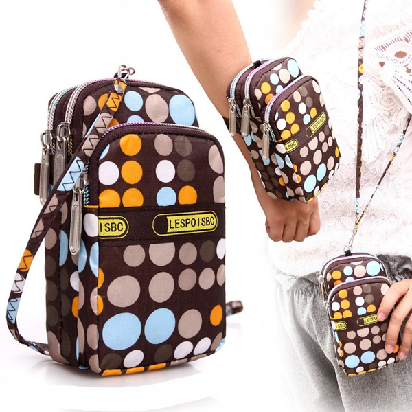 f5785ac3409f Women's Fashion Printing Zipper Sport Shoulder Bag Mini Wrist Purse