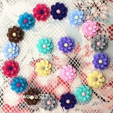 seemore12pcswhiteresinflowerflatbackscrapbookin, Multi-Purpose Craft Supplies, Coffee, Flowers